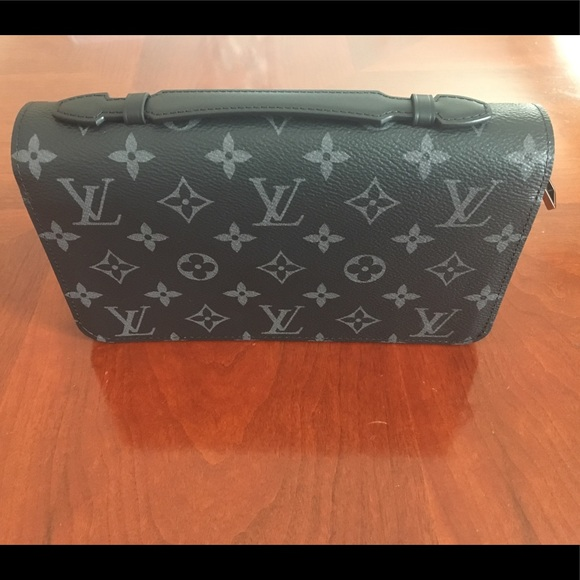 a8d3eb34ee83 new never used LV black and grey Monogram canvas